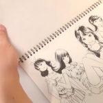 动漫女孩绘画视频-上集