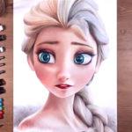 铅笔画 艾莎