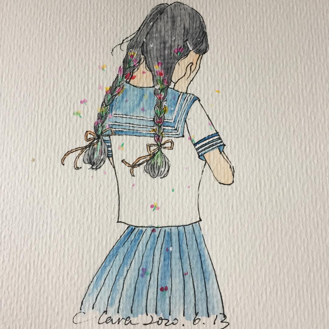害羞的女孩