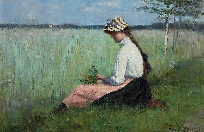 Girl in a meadow-Elin Danielson Gambogi